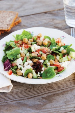 Bilde av Vegetarsalat med kikerter - Diabetesboka