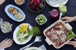 Oppskrifter: Diabetesboka: Oversikt over bordet med masse frisk mat
