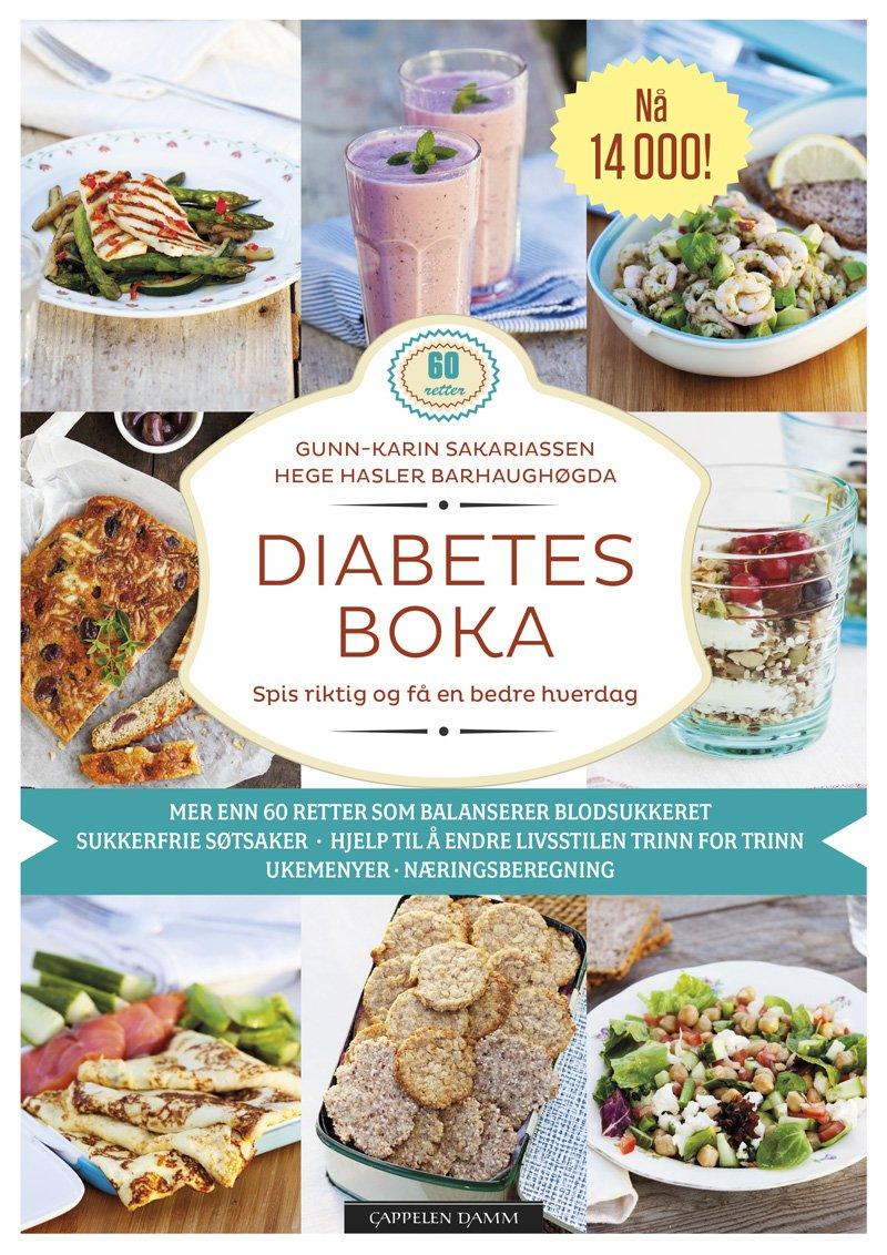 Bilde av Omslag på Diabetesboka - spis riktig og bli frisk
